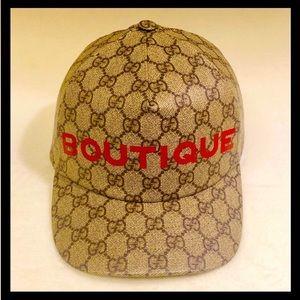 NEW Gucci GG Supreme Boutique Baseball Hat Cap